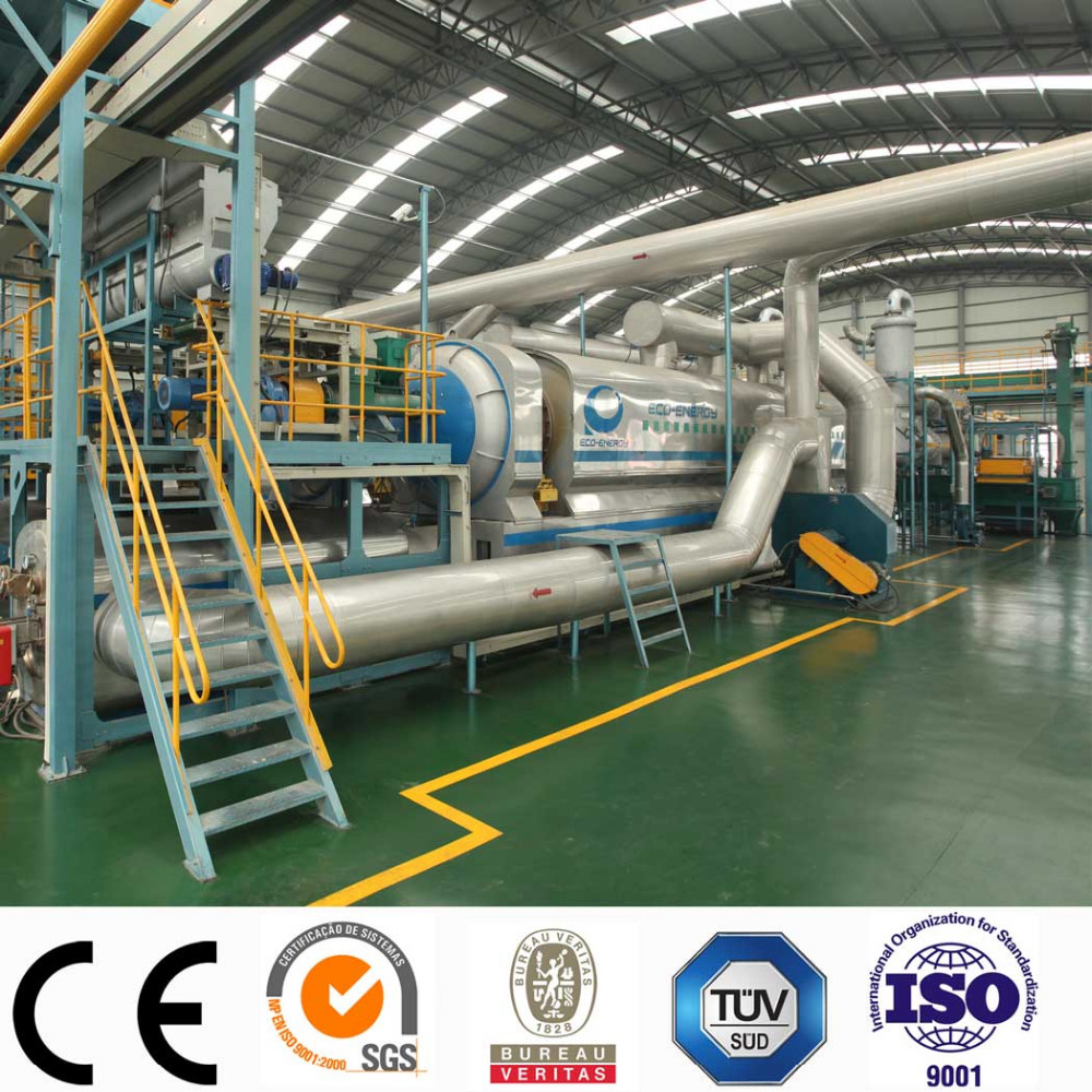High oil output continuous waste tyre pyrolysis machine with CE/TUV/SGS