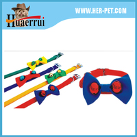 dog collar with metal buckle bow tie for gentle dog