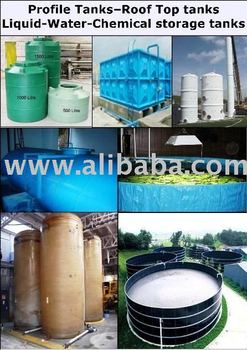 Square-Cylinder Rooftop-Ground Liquid (Water-Chemical) storage tank
