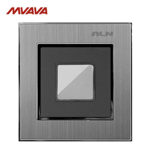 Touch Delay Wall <strong>Switch</strong> LMN New Arrival Silver Satin Metal 20 Seconds Touch Sensitive Time Delay Wall Light <strong>Switches</strong>