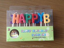 Happy birthday letter cake candles