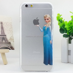 Phone case for iphone 6 plus 6s plus clear Frozen Cartoon characters PC hard Custom phone case for iphone 6 plus 6s plus 5.5''