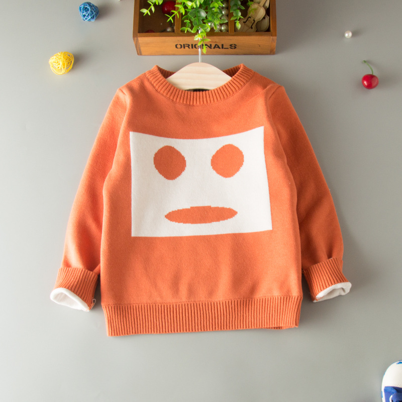 HT-BBSS popular european cartoon knitted kids autumn clothes o-neck pullover boys sweater 2017