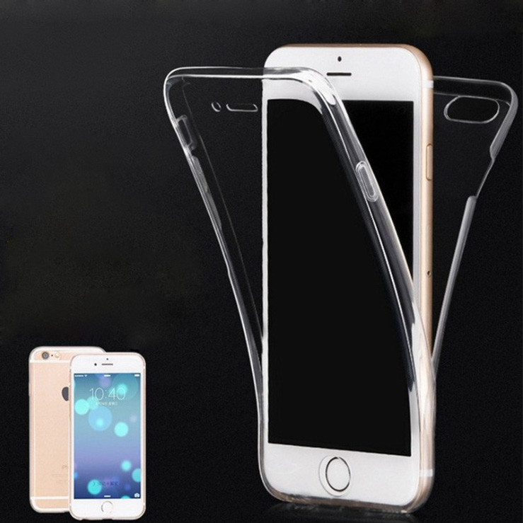 Anti-scratch 360 degree full cover for iphone 7 plus transparent case