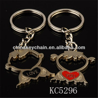 Promotional lover souvenirs chinese wedding keychain gift