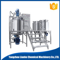 cosmetic lotion making machine, titling vacuum homogenizing emulsifying machine/emulsifier