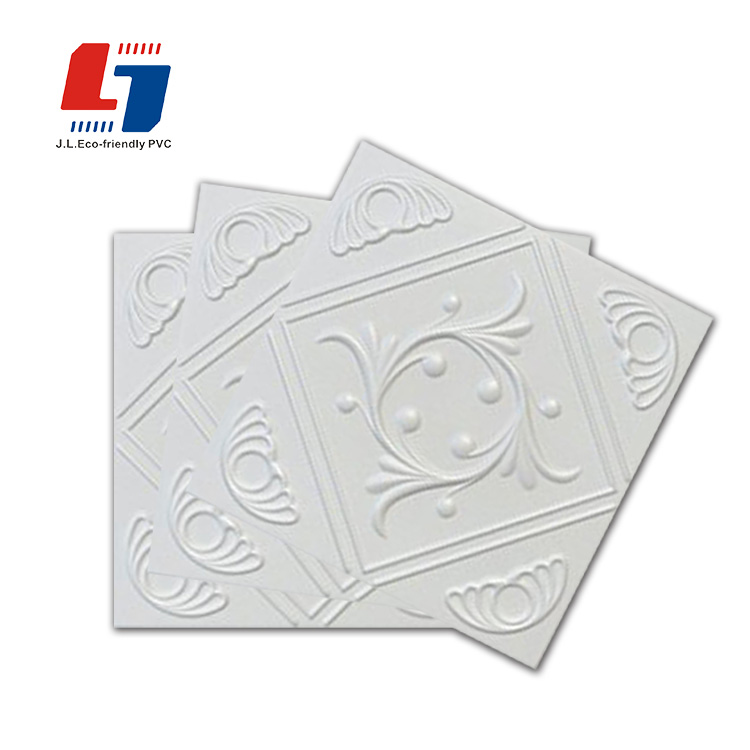 cheap price waterproof and fireproof exterior pvc gypsum ceiling tiles / panels white pvc ceiling board