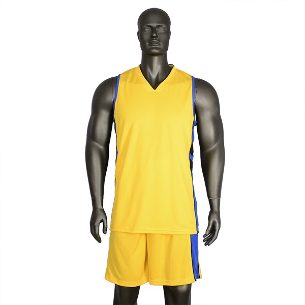 Custom simple yellow basketball jersey with your logo