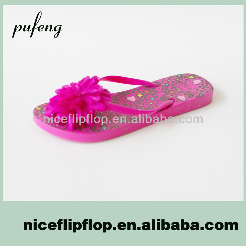 Fashion flower slipper flip flops sublimation