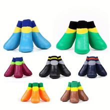 Pet Boots Socks Medium Waterproof Rain Shoes Non-slip Rubber Puppy Shoes