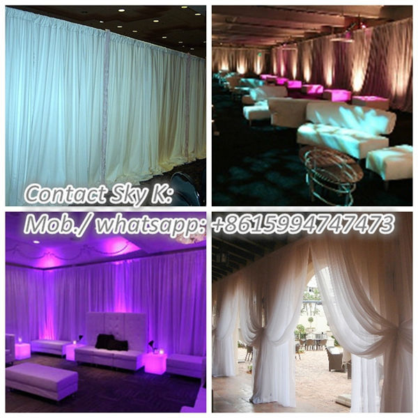 decorative pipe and drape kits for event