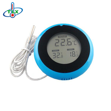 Mini Round Digital Window Thermometer Weather Station
