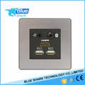 tabletop multi-function power and data/hotel room mutimedia wall socket connected TV system