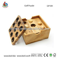 Golf puzzle wooden toys and puzzles