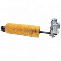 Rotary roller brush for conveyor