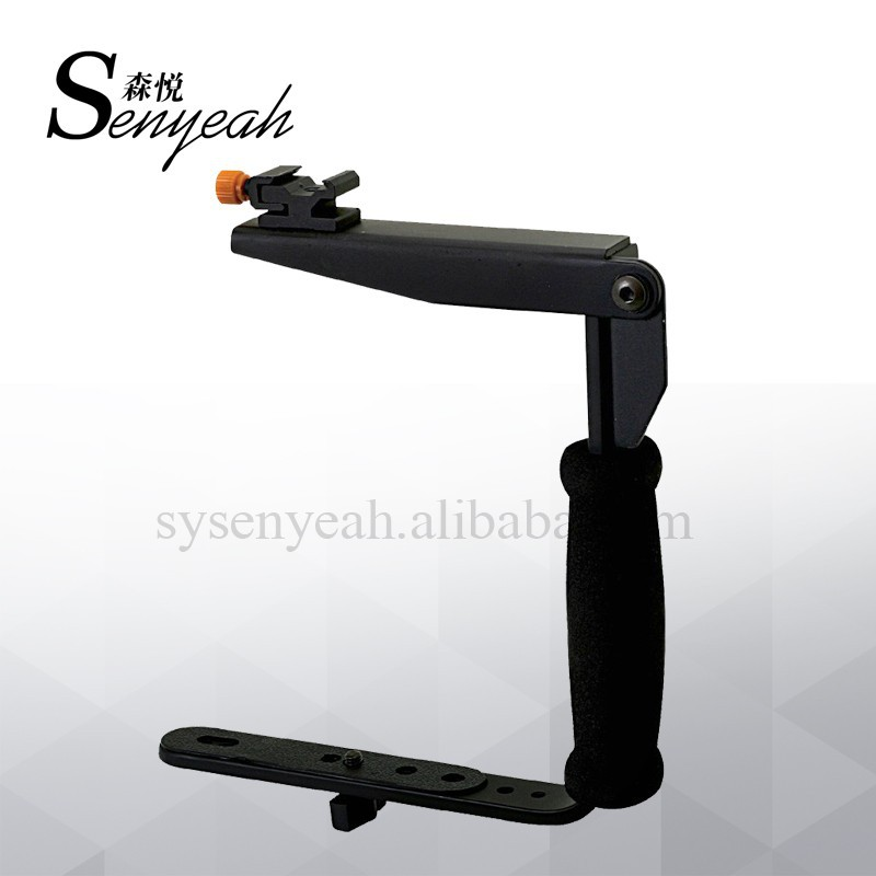Aluminum L Shaped Flash bracket Cameras and camcorders Bracket Flash holder standard hot shoes for DV
