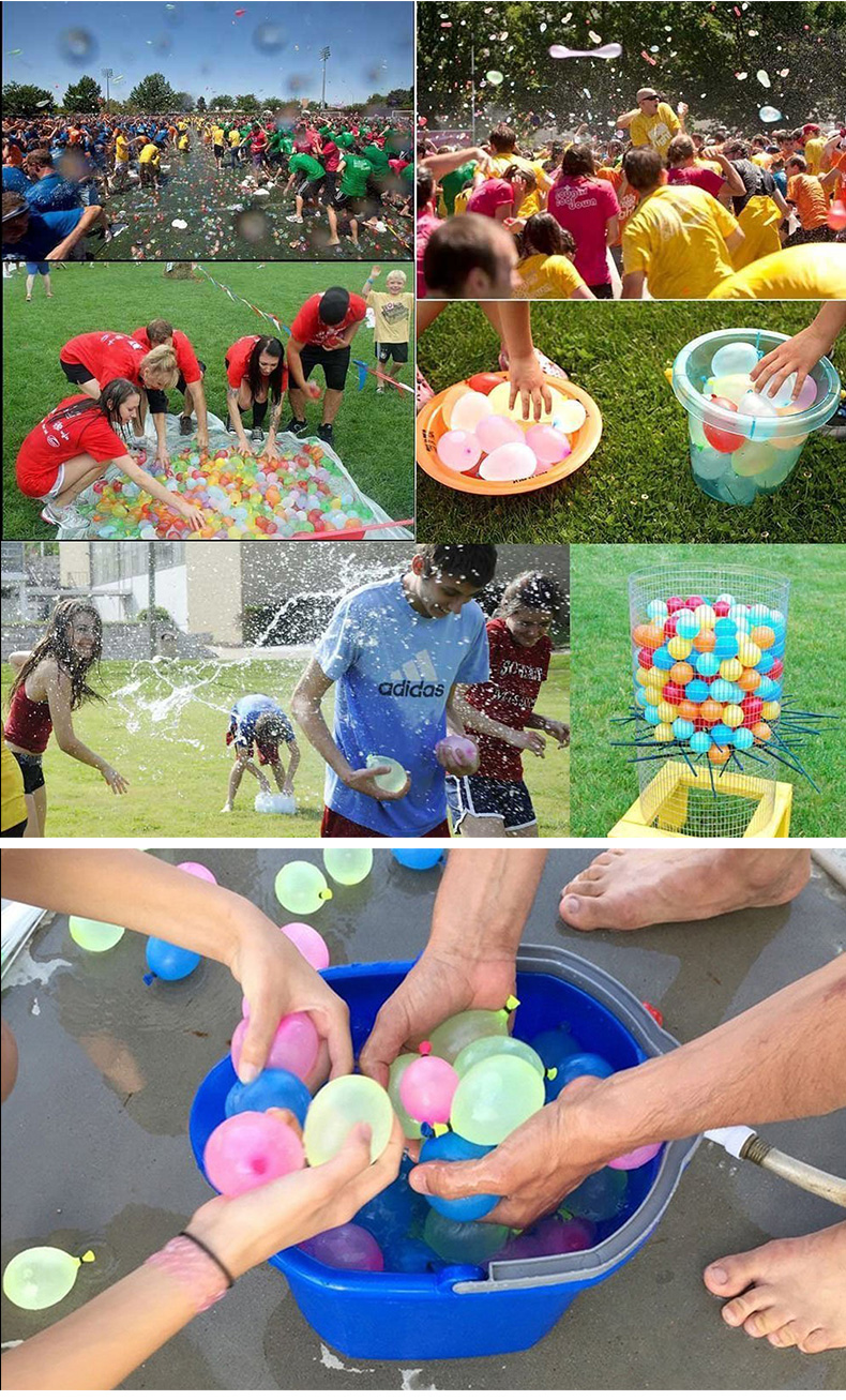 Environmentally friendly Super fast fill inflatable latex water balloon for summer  kids toys