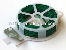 Adjustable plastic coated twist tie