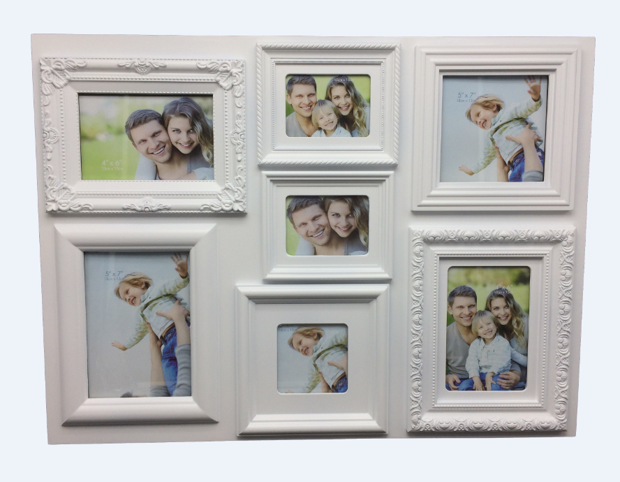 OEM/ODM rectangle collage made multi style design family tree photo frame with cheap picture frame