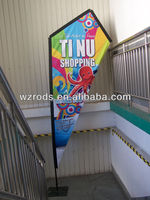 Strong Carbon Fiber Outdoor Indoor Display Kite Banner Flying Flags and Banner Pole K Banner in the Wind