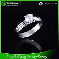 Fashion Accessories Latest Design Stainless Steel Gents Diamond Ring Design J4-0014