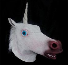 Friendly Natural Latex Horse Mask Full Head Animal Mask