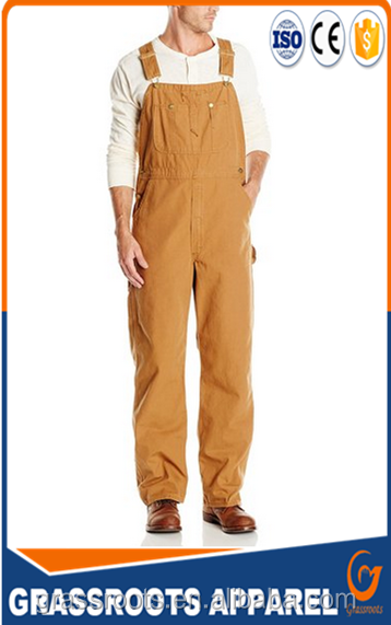 Farm & Pasture mens Workwear Bib Pants cotton/polyester working clothing overall