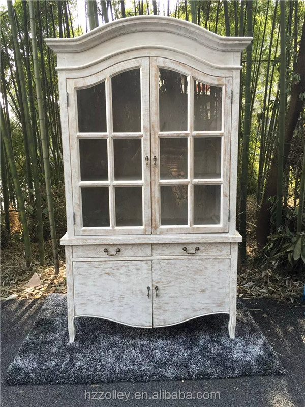 French style display antique style kitchen reproduction china cabinets