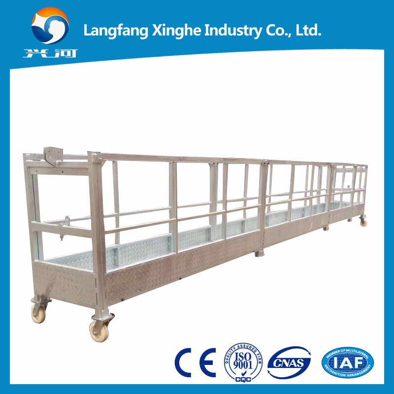 Construction building elevator / electric suspended scaffolding / modular work platform for rent