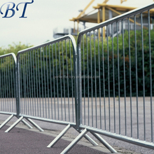 Temporary crowd control barrier, galvanized Pedestrian Barriers, french barricade