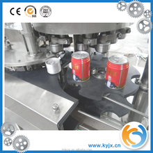 Pressure filling machine cans for beverage