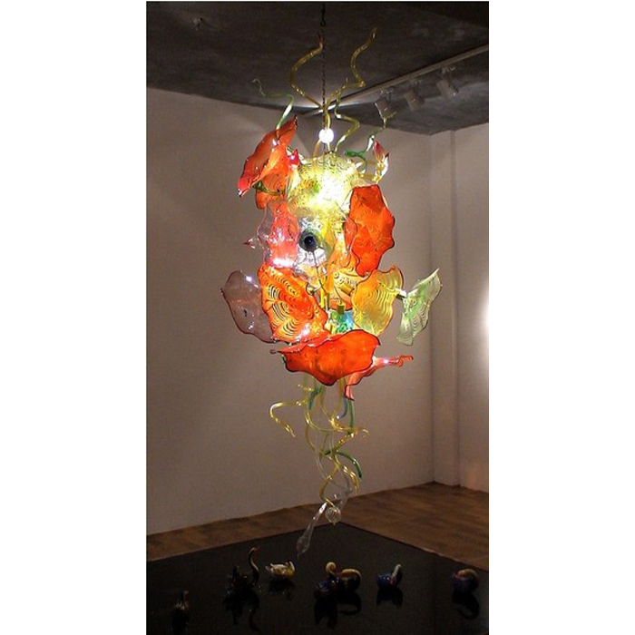 Modern art glass chandelier