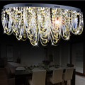 oval crystal ceiling lamp