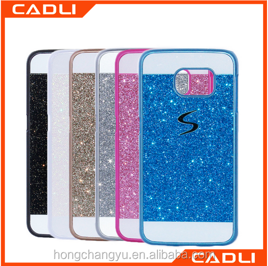 glitter phone case mobile phone case material plastic for samsung Galaxy S7 edge