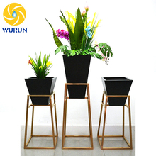 indoor balcony modular metal steel flower planter pots stands