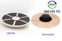 Brand new product wooden rehabilitation training wobble board, gym exercise twist balance board