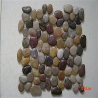 white stone pebbles mosaic