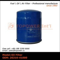 Lubrication system Quality Oil Filter 26316-41000