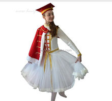 2016 white princess dress with red cape, PhD hat