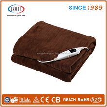 electric blanket heated over throw