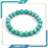 Promotional free sample high quality stone bead and alloy charm bracelet