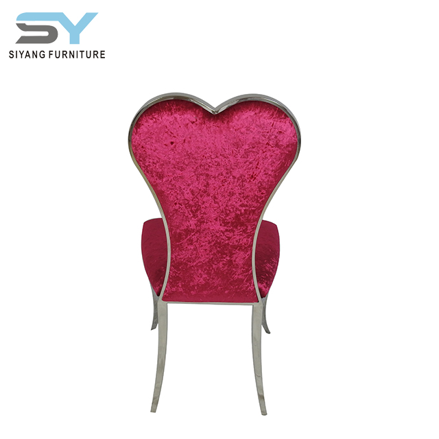Home furniture metal heart shaped dining <strong>chair</strong> CY031-1