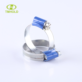 British type hose clamp with tube housing
