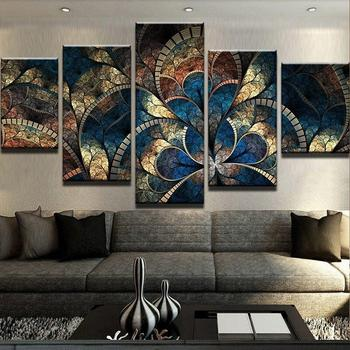 Watercolor Retro Dragon Abstract Oil Painting Print on Canvas Painting Poster Print Wall Picture for Living Room Cuadros Decor