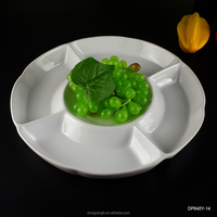 2017 factory supplies white ceramic porcelain divided dinner plates