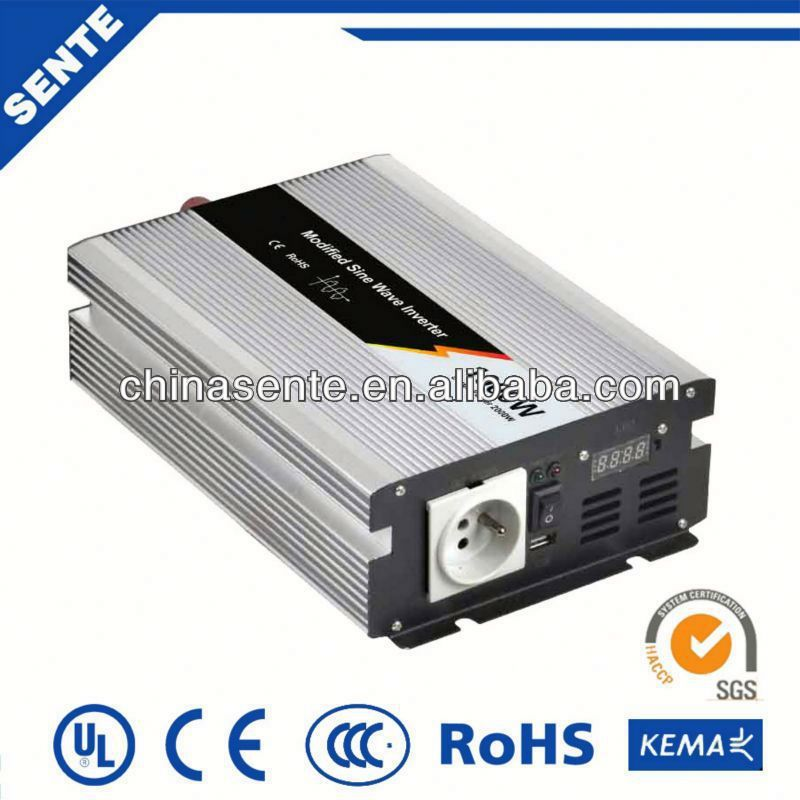 12V to 220V DC/AC 1000w modified sine wave sinus inverter for car