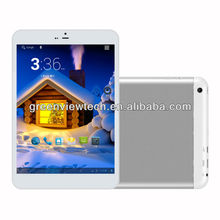 super slim design 7mm 7.85 inch MTK8382 Quad Core Tablet PC Full function built in 3G Bluetooth GPS