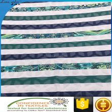 fashion design polyester elastane jacquard fabric with digital printing