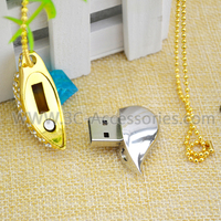 2015 Special Style Portable Necklace USB flash drive , 1GB to 256GB