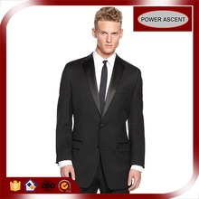 China Supplier OEM Brand Men's Formal Wedding Velvet Lapel Suit